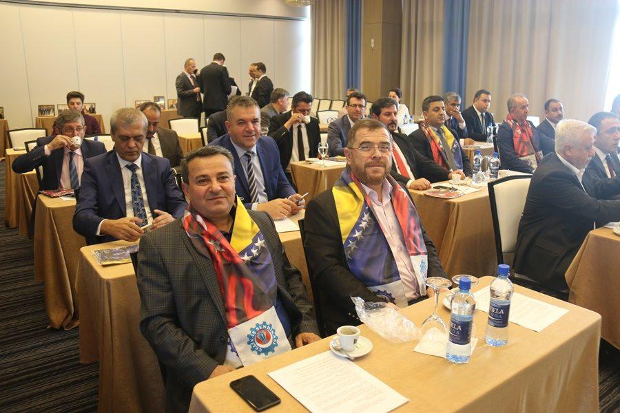 BOSNA HERSEKLİ SENDİKACILARLA SARAY BOSNA'DA ORTAK TOPLANTI