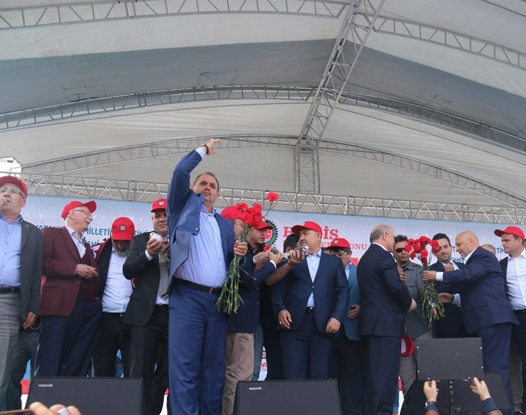 SENDİKAMIZ 1 MAYIS'I HAK-İŞ İLE BİRLİKTE ERZURUM'DA KUTLADI