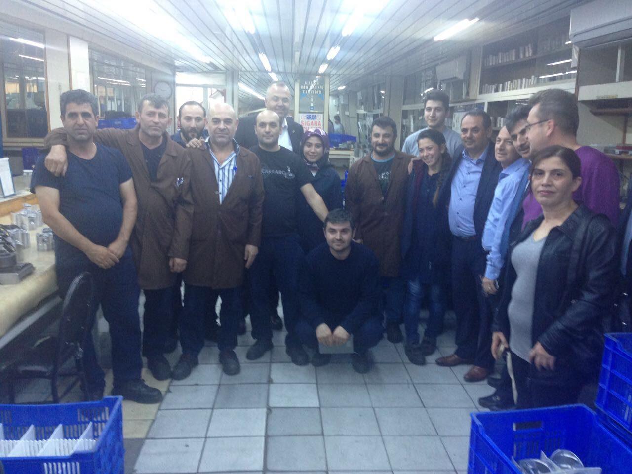 DEĞİRMENCİ'DEN PARSAT PİSTON'A ZİYARET