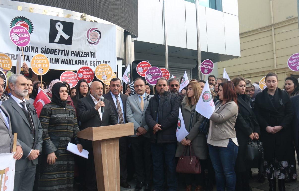 'KADINA ŞİDDETE HAYIR' DEDİK